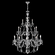 Worldwide W83099C38-SM Provence Polished Chrome Smoke 38  Ceiling Chandelier