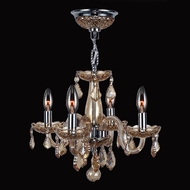 Worldwide W83100C16-AM Clarion Polished Chrome Amber Mini Hanging Chandelier
