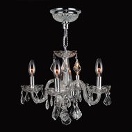 Worldwide W83100C16-CL Clarion Polished Chrome Clear Mini Chandelier Lamp