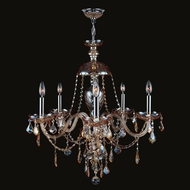 Worldwide W83101C25-AM Provence Polished Chrome Amber 25  Chandelier Lamp