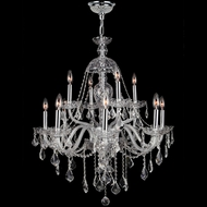 Worldwide W83101C28-CL Provence Polished Chrome Clear 28  Chandelier Lighting