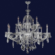 Worldwide W83101C35-CL Provence Polished Chrome Clear 35  Hanging Chandelier