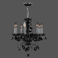 Worldwide W83103C20-BL Provence Polished Chrome Black Mini Lighting Chandelier