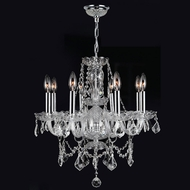 Worldwide W83103C20-CL Provence Polished Chrome Clear Mini Chandelier Light