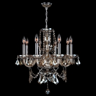 Worldwide W83103C20-GT Provence Polished Chrome Golden Teak Mini Ceiling Chandelier