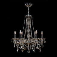 Worldwide W83105C24-GT Provence Polished Chrome Golden Teak 24  Hanging Chandelier