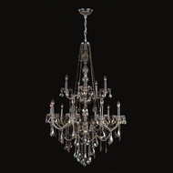 Worldwide W83107C33-GT Provence Polished Chrome Golden Teak 33  Ceiling Chandelier