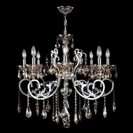 Worldwide W83109C30-GT Kronos Polished Chrome Golden Teak 30  Hanging Chandelier