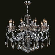 Worldwide W83109C36-GT Kronos Polished Chrome Finish 28  Tall Ceiling Chandelier