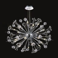 Worldwide W83111C24 Starburst Polished Chrome Finish 16  Tall Hanging Chandelier