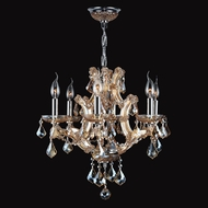 Worldwide W83117C20-AM Lyre Polished Chrome Amber Mini Lighting Chandelier
