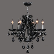 Worldwide W83117C20-BL Lyre Polished Chrome Black Mini Chandelier Lamp