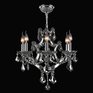 Worldwide W83117C20-CH Lyre Polished Chrome Chrome Mini Chandelier Light
