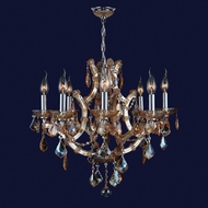 Worldwide W83118C26-AM Lyre Polished Chrome Amber 26  Chandelier Light