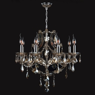 Worldwide W83118C26-GT Lyre Polished Chrome Golden Teak 26  Chandelier Light