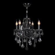 Worldwide W83119C18-BL Catherine Polished Chrome Black Mini Hanging Chandelier