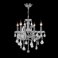 Worldwide W83119C18-CL Catherine Polished Chrome Clear Mini Chandelier Light
