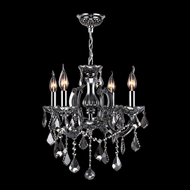 Worldwide W83119C18-SM Catherine Polished Chrome Smoke Mini Lighting Chandelier