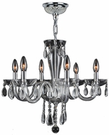 Worldwide W83128C22-CL Gatsby Traditional Polished Chrome Finish 19  Tall Mini Hanging Chandelier
