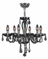 Worldwide W83128C22-SM Gatsby Traditional Polished Chrome Finish 19  Tall Mini Chandelier Lighting