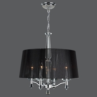 Worldwide W83135C18 Gatsby Polished Chrome Clear Drum Hanging Pendant Light