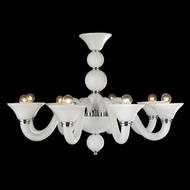 Worldwide W83171C28-WH Murano Polished Chrome Hanging Chandelier