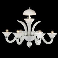 Worldwide W83172C28-WH Murano Polished Chrome Chandelier Light