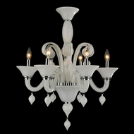 Worldwide W83174C23-WH Murano Polished Chrome 23  Chandelier Light