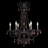 Worldwide W83177C25-CY Carnivale Polished Chrome Cranberry 25  Chandelier Lamp