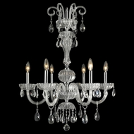 Worldwide W83178C25-CL Carnivale Polished Chrome Clear Chandelier Lamp