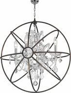 Worldwide W83190C24-CL Armillary Polished Chrome Clear Hanging Light Fixture
