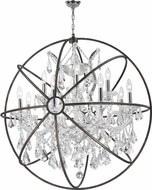 Worldwide W83191C33-CL Armillary Polished Chrome Clear Drop Ceiling Lighting