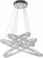 Worldwide W83192KC48 Galaxy Polished Chrome Clear LED 48  Ceiling Chandelier