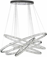 Worldwide W83193KC72 Galaxy Polished Chrome Clear LED 72  Hanging Chandelier