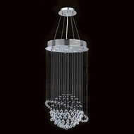 Worldwide W83202C18 Saturn Polished Chrome Clear Halogen Multi Hanging Pendant Light