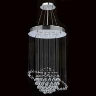 Worldwide W83203C22 Saturn Polished Chrome Clear Halogen Multi Ceiling Pendant Light