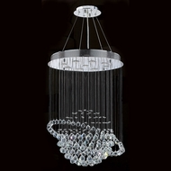 Worldwide W83204C26 Saturn Polished Chrome Clear Halogen Multi Pendant Hanging Light