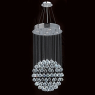Worldwide W83207C16 Saturn Polished Chrome Clear Halogen Multi Drop Lighting Fixture