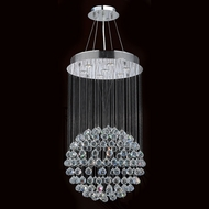 Worldwide W83208C20 Saturn Polished Chrome Clear Halogen Multi Pendant Lighting