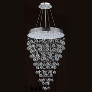 Worldwide W83214C24 Icicle Polished Chrome Clear Halogen Multi Drop Ceiling Lighting