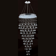 Worldwide W83215C28 Icicle Polished Chrome Clear Halogen Multi Hanging Light