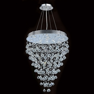Worldwide W83216C28 Icicle Polished Chrome Clear Halogen Multi Pendant Light Fixture
