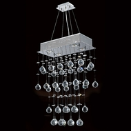 Worldwide W83220C16 Icicle Polished Chrome Clear Halogen Multi Hanging Pendant Light