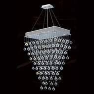 Worldwide W83222C28 Icicle Polished Chrome Clear Halogen Multi Hanging Light Fixture