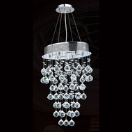 Worldwide W83226C16 Icicle Polished Chrome Clear Halogen Multi Drop Lighting