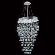 Worldwide W83228C24 Icicle Polished Chrome Clear Halogen Multi Ceiling Light Pendant