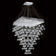 Worldwide W83238C24 Icicle Polished Chrome Clear Halogen Multi Lighting Pendant