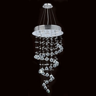 Worldwide W83246C16 Helix Polished Chrome Clear Halogen Multi Pendant Light Fixture