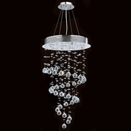 Worldwide W83247C18 Helix Polished Chrome Clear Halogen Multi Pendant Lighting Fixture