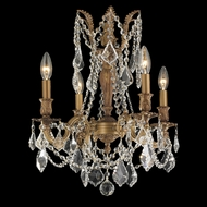 Worldwide W83303FG17-CL Windsor French Polished Gold Finish 17  Wide Mini Chandelier Light